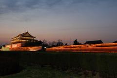 Tiananmen night Stock Photography