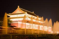 Tiananmen night scene Stock Photography