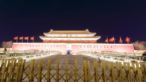 Tiananmen night sight. Entrance to forbidden city at night, beijing city, china Royalty Free Stock Image