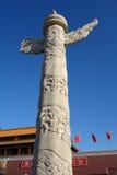 Tiananmen ornamental columns Royalty Free Stock Images