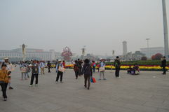 Tiananmen-Platz Pekings China Stockbild
