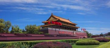 Tiananmen port Royaltyfri Bild
