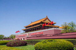 Tiananmen port av himla- fred i Peking, Kina Royaltyfri Fotografi