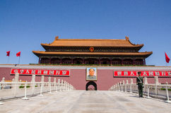 Tiananmen port av himla- fred, Peking Royaltyfria Foton