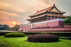 Tiananmen port av himla- fred, Peking, Kina arkivbilder