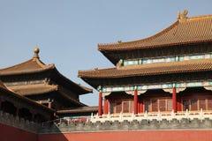 Tiananmen port som förbjudas staden Royaltyfria Bilder