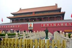 Tiananmen port Tiananmen fyrkant, Peking Kina Arkivfoton