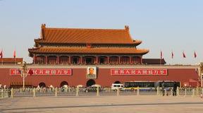 Tiananmen porttorn till Forbiddenet City, Peking, Kina Arkivbilder