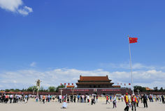 The tiananmen square Stock Photography