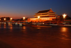 Tiananmen Square. SparklingTiananmen Square at night Royalty Free Stock Photography