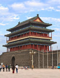 Tiananmen Square in Beijing, China. South of Tiananmen Square in Beijing, China. Zhengyangmen Gate Stock Photography