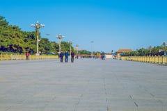 Tiananmen square, China, 2016 autumn. Royalty Free Stock Image