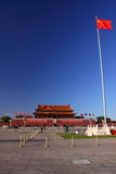 Tiananmen Square and flag Stock Photo
