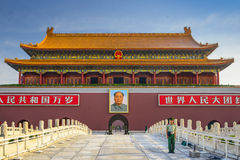 Tiananmen Square Gate in Beijing Royalty Free Stock Photography
