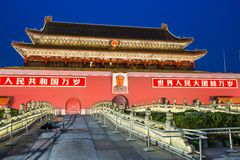 Tiananmen Square Gate of Beijing Royalty Free Stock Photos