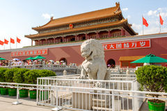 Tiananmen Square and Gate of Heavenly Peace in Beijing, China. Stock Photo