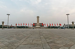 Tiananmen Square, the Monument to the People's Heroes and the National Museum of China stock photography