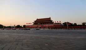 Tiananmen Square at night-- center of Beijing, China Stock Images