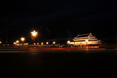 Tiananmen Square at night Stock Photography