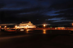 Tiananmen Square at night Stock Images