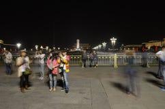 Tiananmen square night scene Royalty Free Stock Photos