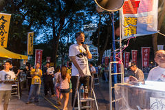 Tiananmen Square protests event in Hong Kong. HONG KONG - JUN 4: The meeting to memorize The Tiananmen Square protest of Beijing at 1989 on June 4, 2015 in Hong Royalty Free Stock Images