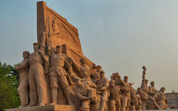 Tiananmen square statues Stock Images
