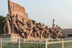 Tiananmen square statues Stock Image