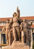 Tiananmen square statues Stock Photo