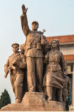 Tiananmen square statues Royalty Free Stock Photography