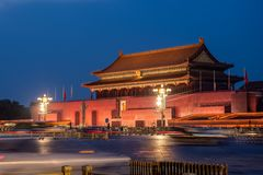Chinese ancient classics Beijing Tiananmen night scene stock photos