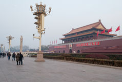 Tiananmen Square in winter morning. Royalty Free Stock Photography