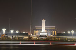 Tiananmen square night scene Stock Photos