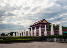 Tiananmen tower with fountain Stock Images