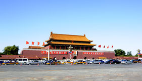 Tiananmen tower in a sunny day Royalty Free Stock Photos