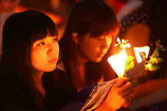 Tiananmen Vigil in Hong Kong Stock Photos