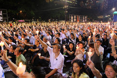 Tiananmen Vigil in Hongkong Royalty-vrije Stock Fotografie