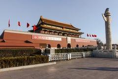 Tiananmen y huabiao Fotos de archivo libres de regalías