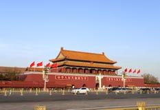Tiananmenpoort Stock Foto
