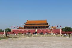 Tiananmenpoort stock foto's