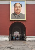 Tiananmenpoort van Hemelse Vrede, Portret van Mao, Peking Stock Foto's