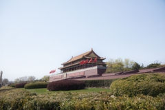 Tiananmenvierkant, Poort van Hemelse Vrede met het Portret van Mao, Peking, China. Stock Fotografie