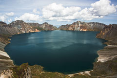 Tianchi in CHANGBAI Mountain. Located in JILIN province, is one of the deepest lake in China. The beautiful view of the Tianchi is often blocked by cloud. This Stock Images
