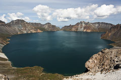 Tianchi in CHANGBAI Mountain in other version. Tianchi in Changbai Mountain, located in JILIN province, is one of the deepest lake in China. The beautiful view Royalty Free Stock Photography