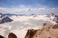 Tianchi de ¼ de Volcanicï, changbaishan Photos libres de droits