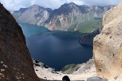 Tianchi della montagna di changbai della Cina Fotografie Stock Libere da Diritti