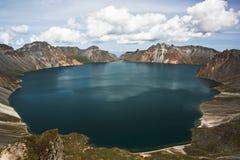 Tianchi en montagne de CHANGBAI images stock