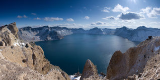 Tianchi Lake in the Changbai Mountain. Located in the counties of Antu, Wusong and Changbai in southern Jilin Province, Changbaishan is one of China's nature royalty free stock photos