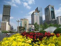 tianfu chengdu квадратное стоковая фотография