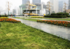 Tianfu square in chengdu,china royalty free stock photo